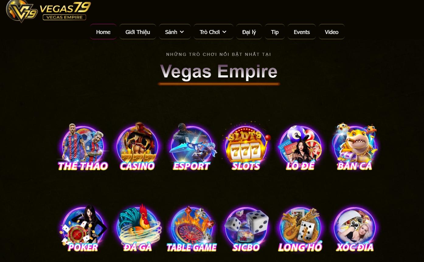 Vegas Empire – Cá cược thể thao, casino uy tín đẳng cấp châu Á