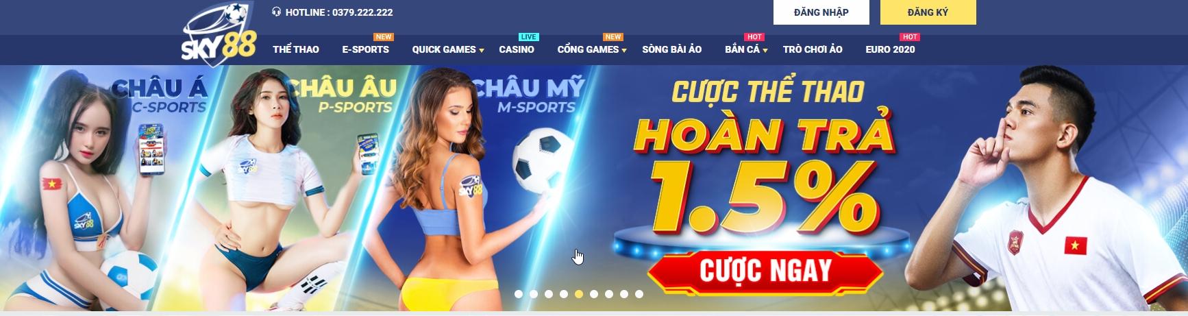 Nhà cái Sky88 – Sân chơi cá cược online đến từ châu Âu – Link truy cập mới nhất SKY88
