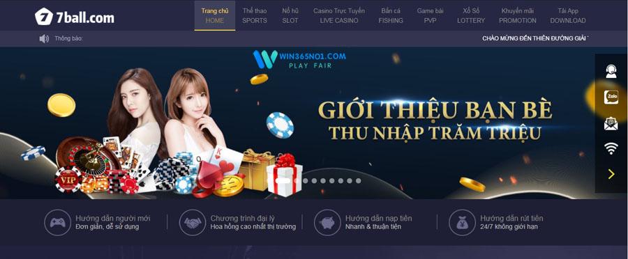 7 ball – Thiên đường cá cược đẳng cấp nhất Việt Nam