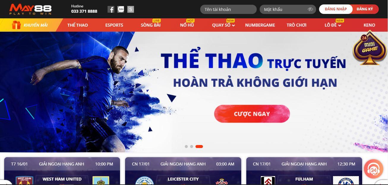 MAY88 – Nhà cái bóng đá uy tín về cá cược online đến từ Bắc Âu