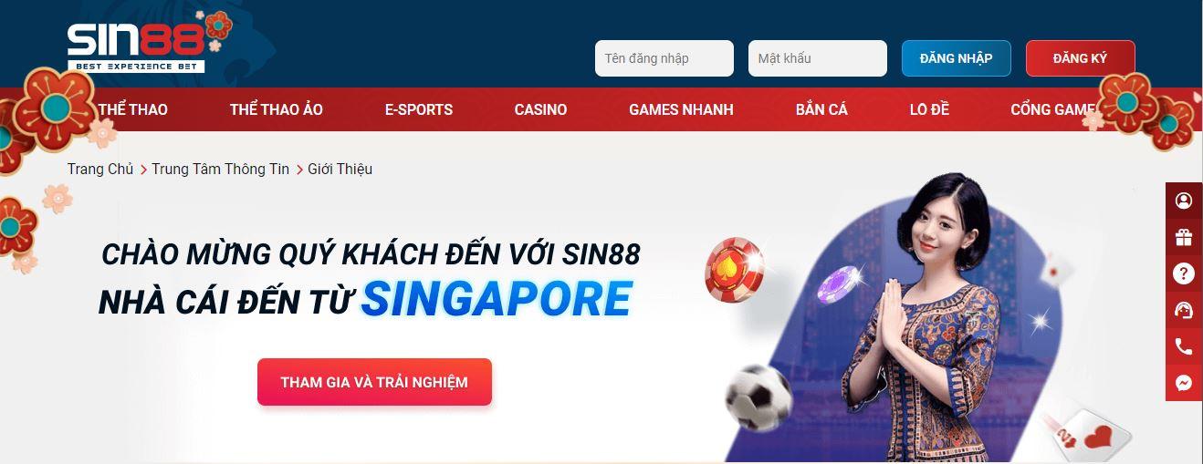 SIN88 – Nhà cái uy tín hàng đầu Đông Nam Á – Link truy cập SIN88