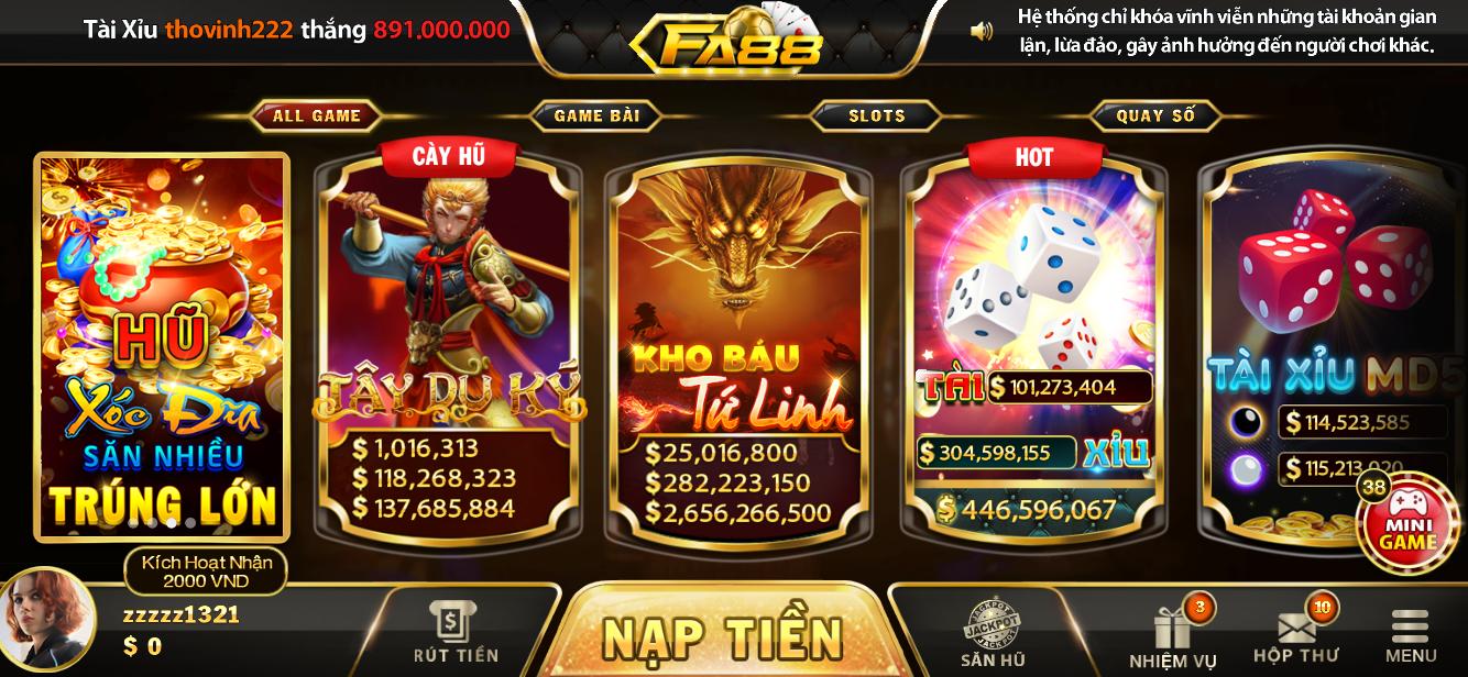 FA88 | Review đánh giá cổng game bài đổi thưởng đẳng cấp quốc tế FA88