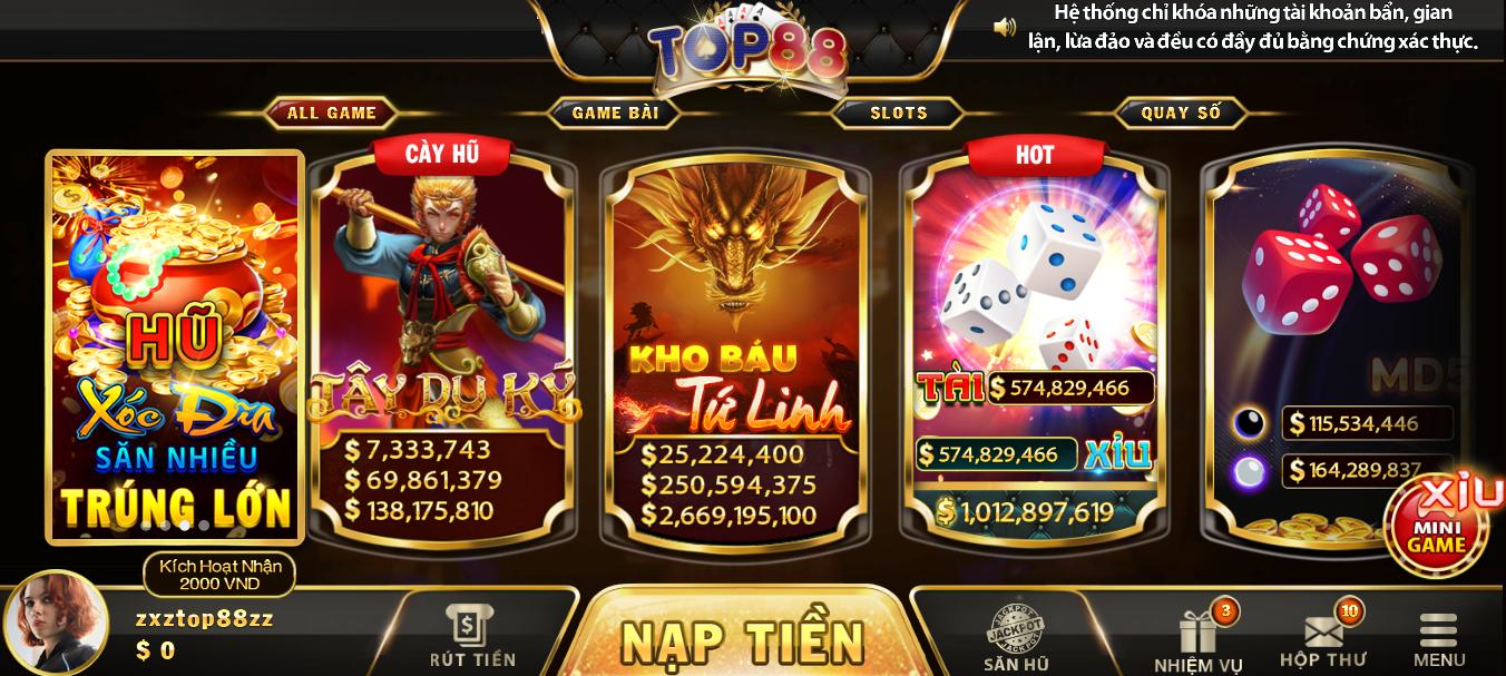 Top88 | Review cổng game bài đẳng cấp Top88 | Link tải Top88 Club
