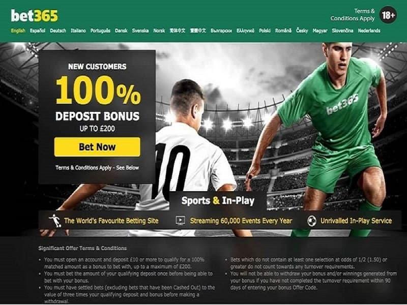 Bet365 – Nhà cái cá cược bóng đá, thể thao trực tuyến lớn nhất châu âu